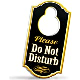 Bigtime Signs Please Do Not Disturb Door Hanger Sign - 1/4 inch Thick Rigid PVC - 8 inch x 4 inch w/Hole for Door Knobs…