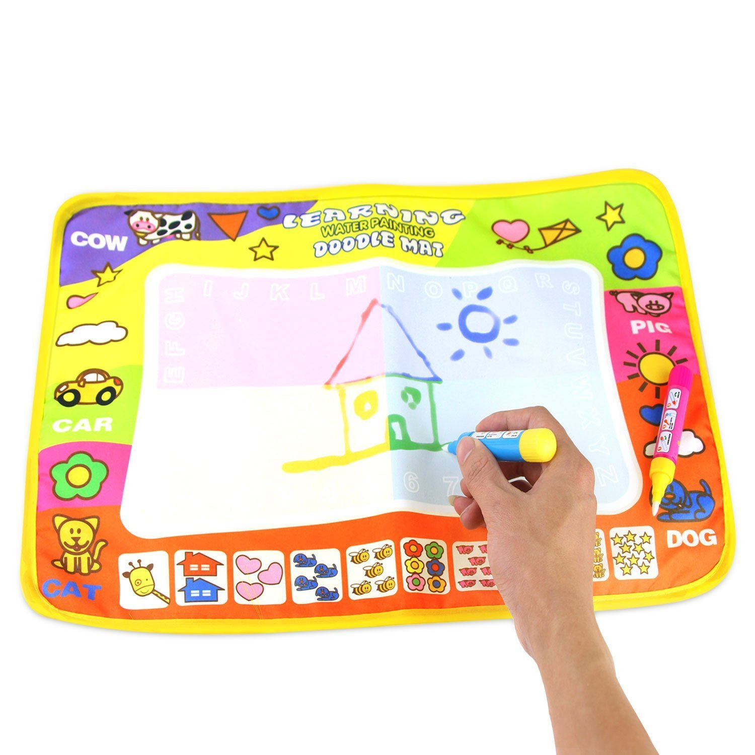 Tango Doodle drawing toys Travel Doodle Mat Magic Water Drawing Mats magic pen Educational toys for children toddlers kids Inches 31.5 x 23.62
