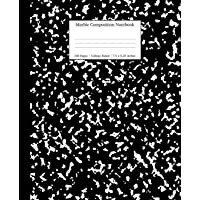 Marble Composition Notebook College Ruled: Black Marble Notebooks, School Supplies, Notebooks for School (1)