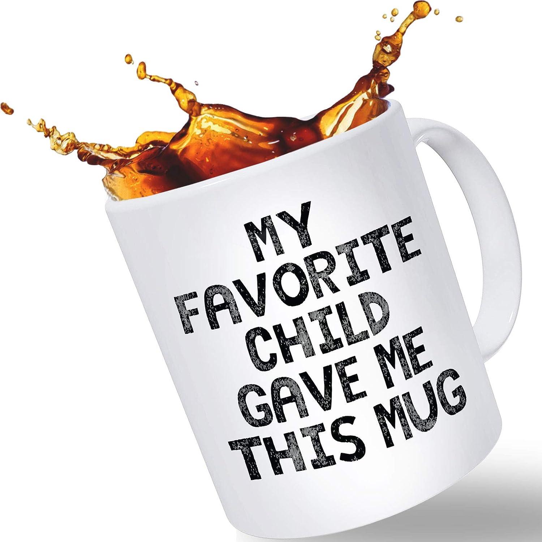 Taza de café divertida para mamá o papá, gran capacidad de 14 onzas, regalos de niño favorito | Calcetín de Navidad o regalo de cumpleaños | Día de la Madre o Día del Padre regalo de hijo o hija