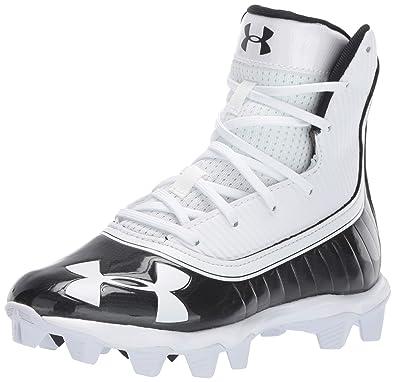 8028d1492 Under Armour Boys  Highlight RM Jr. Football Shoe Black (002) White