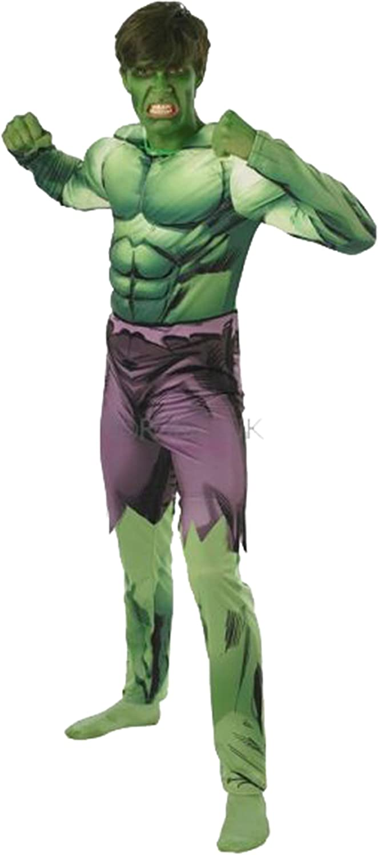 Para hombre disfraz Hulk Deluxe Completo disfraz de fiesta: Amazon ...
