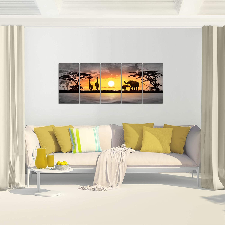 Bilder Afrika Sonnenuntergang Wandbild Vlies Leinwand Bild Xxl