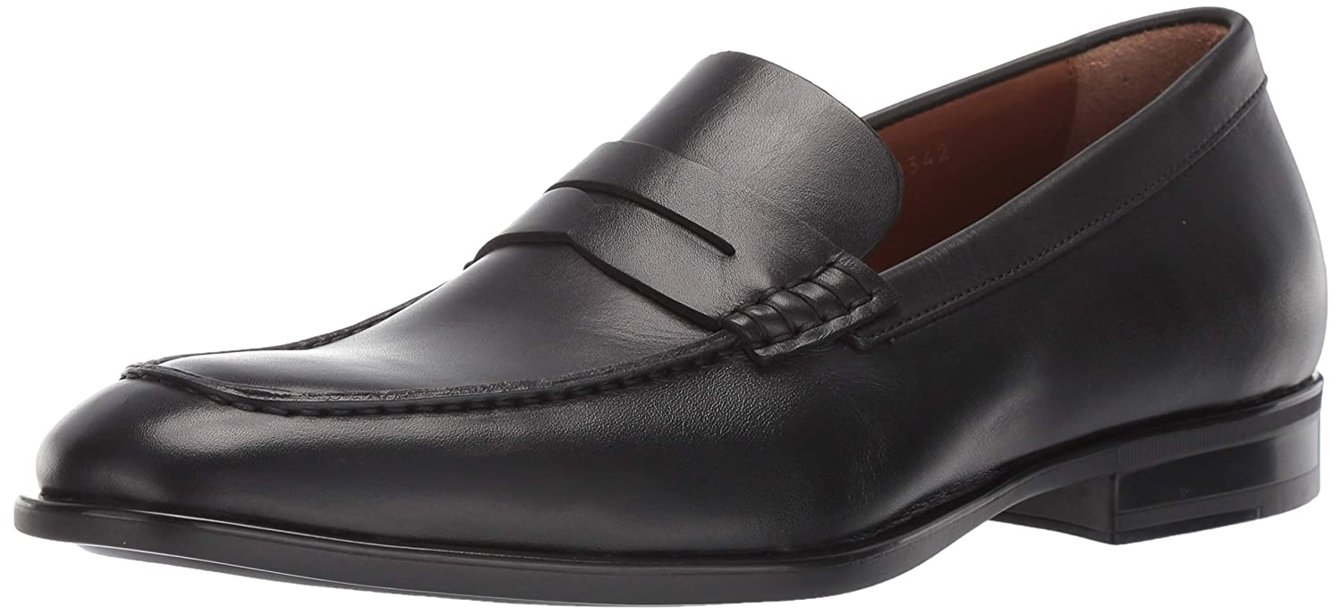 Black Aquatalia Mens Adamo Dress Calf Penny Loafer