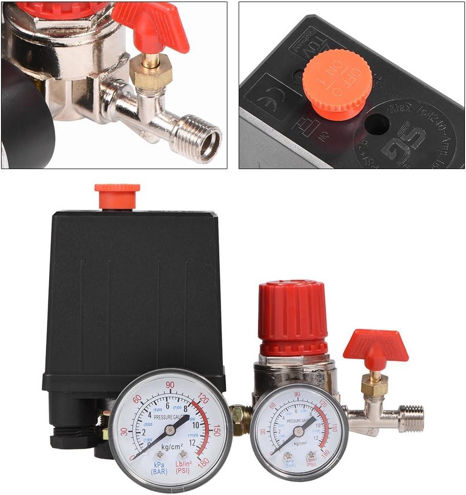 Pressostato del compressore daria regolatore della valvola di controllo del pressostato con manometri per una rapida riduzione della pressione