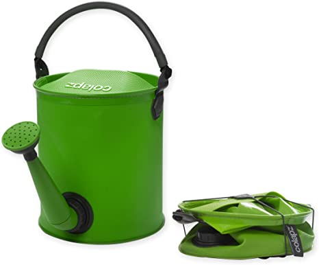 Colapz Regadera Plegable - Cubo Plegable Camping - Camping Accesorios Contenedor Agua - Accesorios Camper - Accesorios Autocaravana - Verde