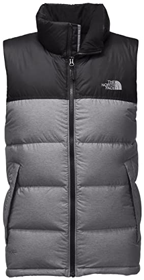 The North Face Nuptse Vest - Men s TNF Medium Grey Heather TNF Black X- 7dc48e35a