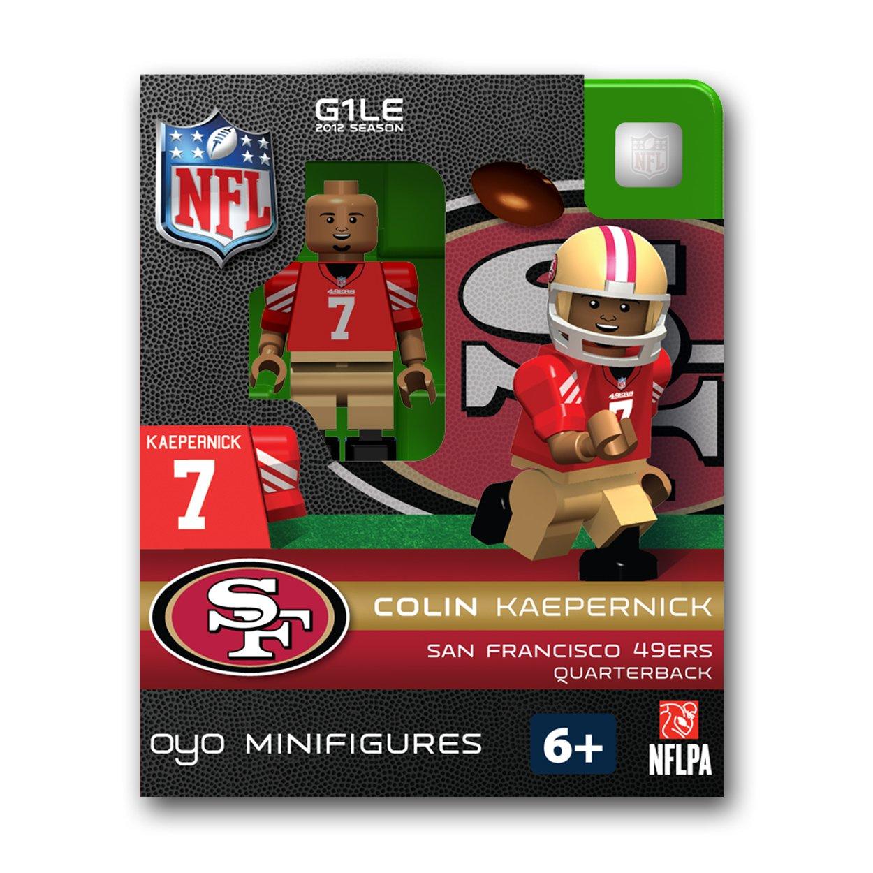 99eab3851a2 Amazon.com : OYO NFL San Francisco 49ers Colin Kaepernick Figurine : Sports  Fan Toy Figures : Sports & Outdoors