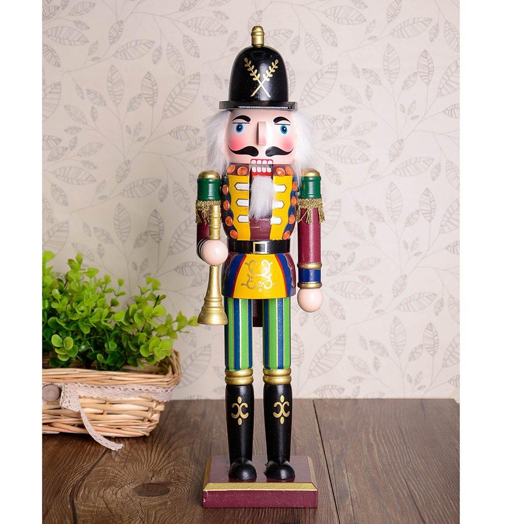 Baoblaze 30 cm de Madera Cascanueces Solider Figuras Modelo Mu/ñeca de Juguete Decoraci/ón para Hogar Regalo
