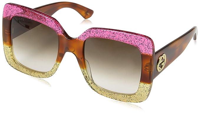 Gucci GG0083S 002 Gafas de Sol, Rosa (Fuchsia/Brown), 55 ...