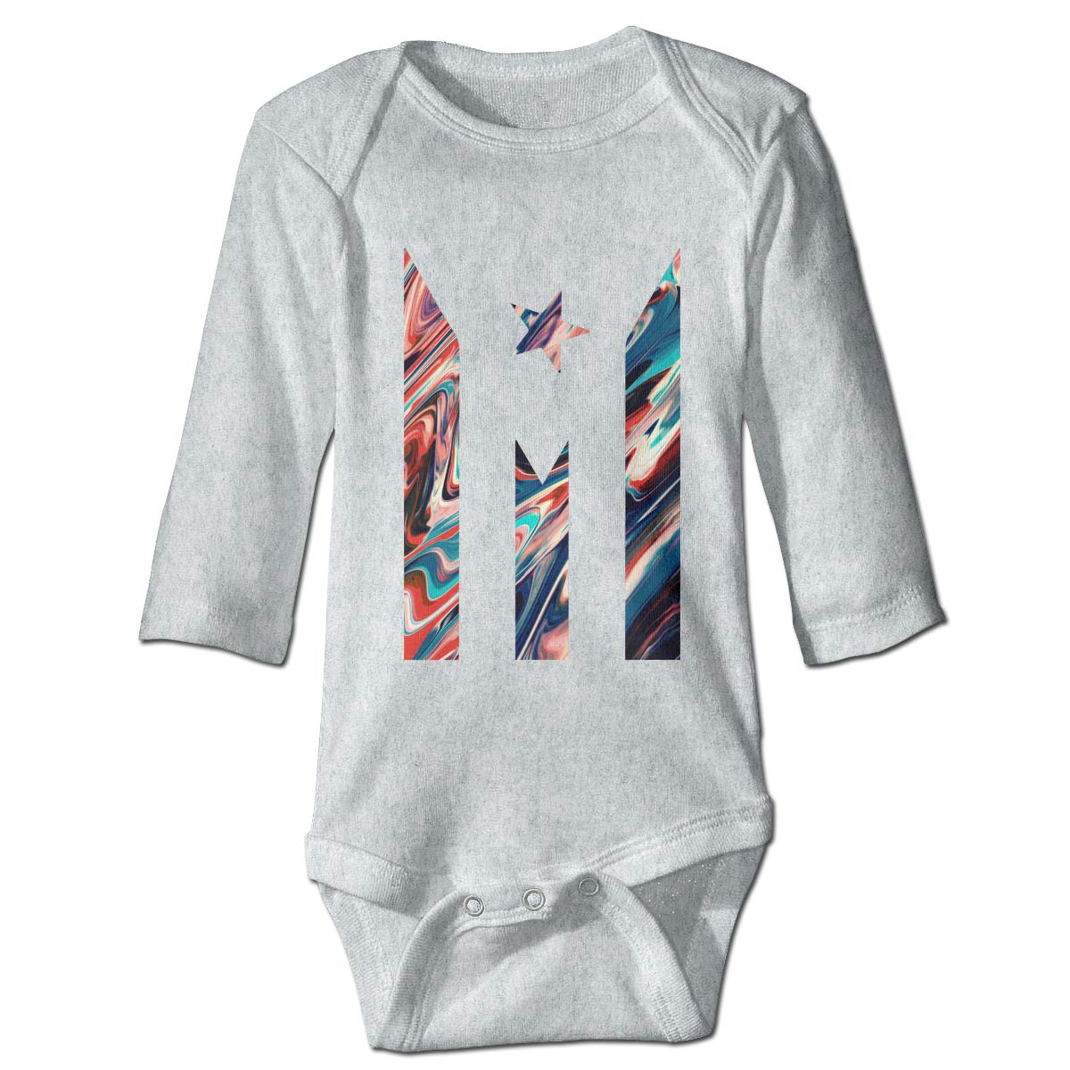 Baby Infant Toddler Long Sleeve Romper Bodysuit Puerto Rico Resiste Boricua Flag Paint Flow Background Playsuit