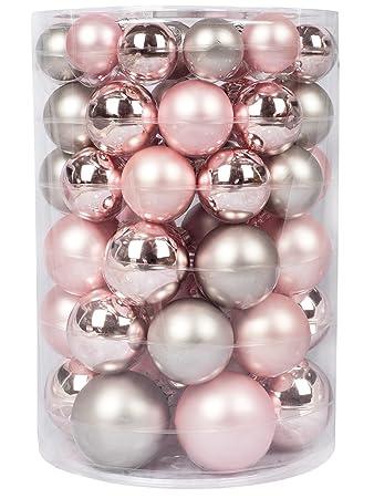 Christbaumkugeln Rosa Glas.Inge Glas Kugeldose 60 Tlg Soft Simplicity Weihnachtskugeln