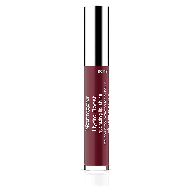 Neutrogena Hydro Boost Hydrating Lip Shine, 27 Almond Nude Color, 0.10 oz