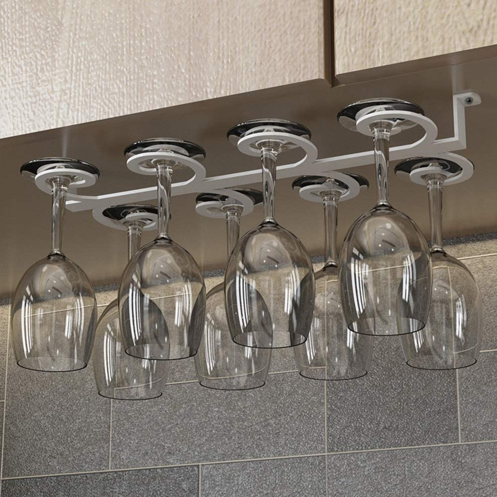 5 Slot Iron Art Glass Cup Holder Wine Glass Rack Hanger Hanging Stand for Bar