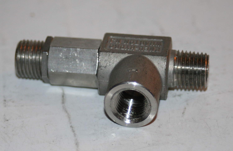 1//4 NPT SS Adjustable Pressure Relief Valve Pneu-Hydro 120-300 Psi