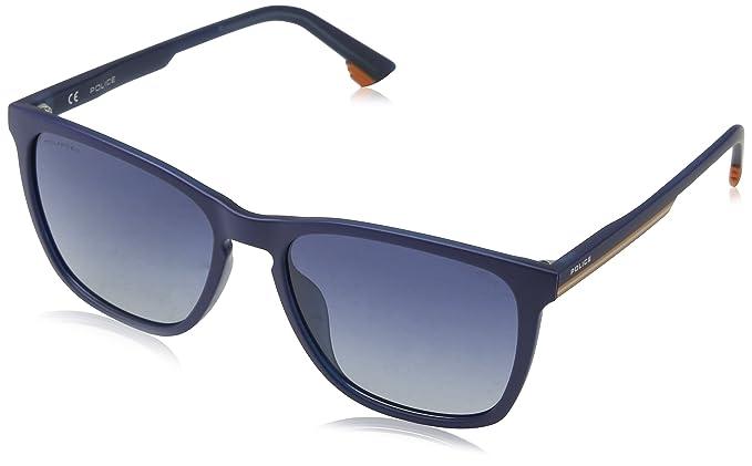 Police Track 6 Gafas de Sol, Azul (Matt Transp.Blue), 55 para Hombre