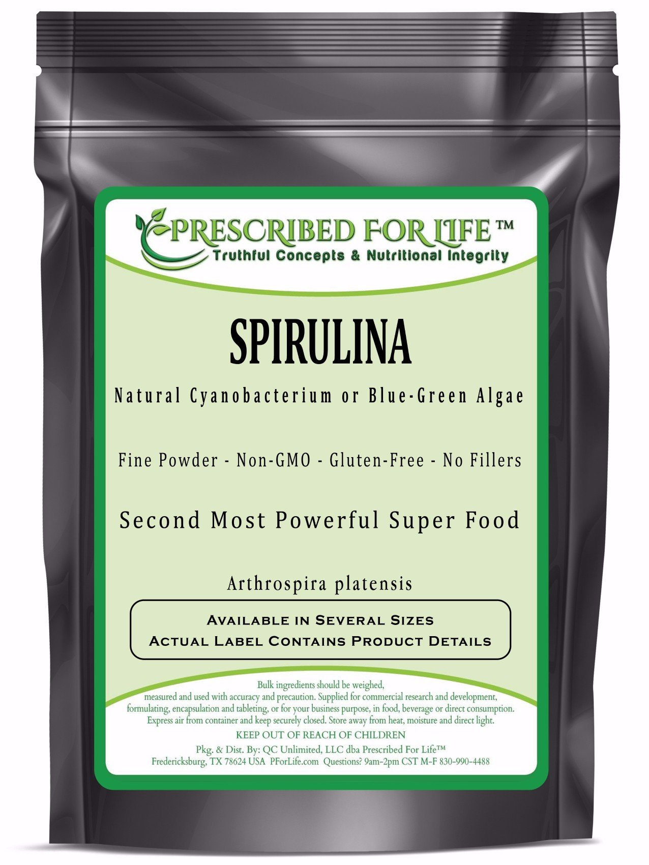 Spirulina - Natural Cyanobacterium or Blue-Green Algae Powder - Arthrospira platensis, 2 kg