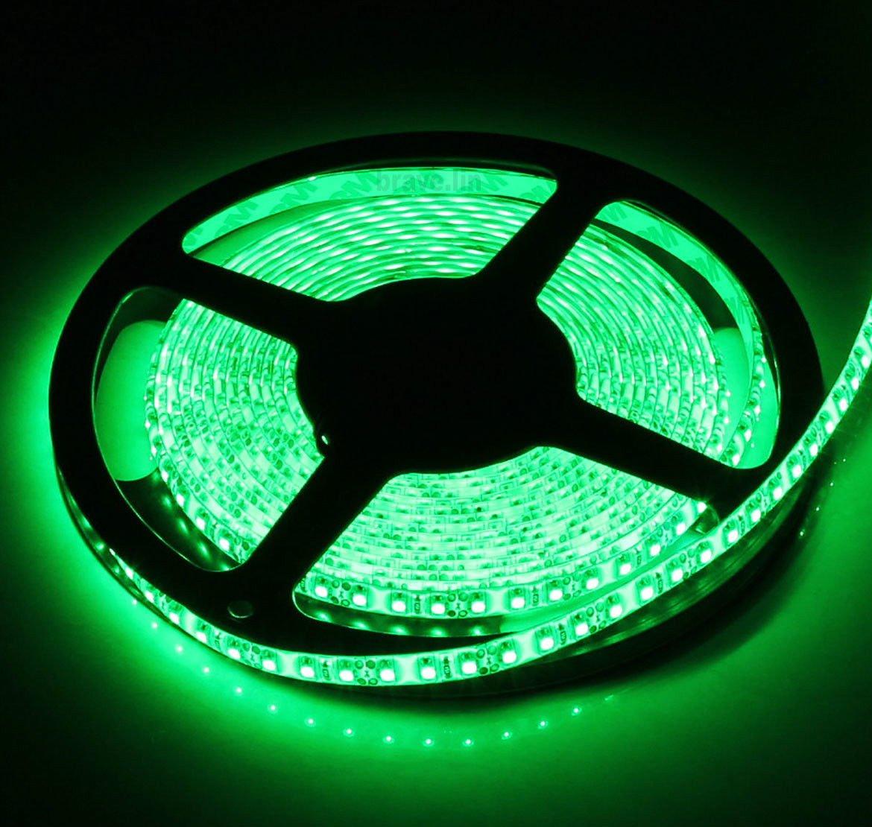 SUPERNIGHT High Density Green Waterproof Led Light Strip, SMD 3528, 5 Meter or 16 Ft LED Strip 120 Leds/M by SUPERNIGHT (Image #2)