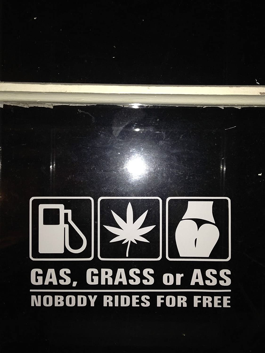 Amazon com gas grass or ass nobody rides for free funny jdm window sticker vinyl decal automotive