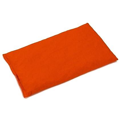Almohada térmica de semillas 30x20cm naranja | Saco térmico ...