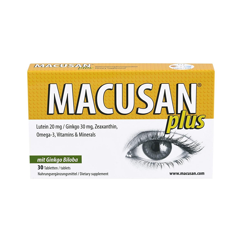 Macusan Plus comprimidos para una mácula saludable | luteína ...