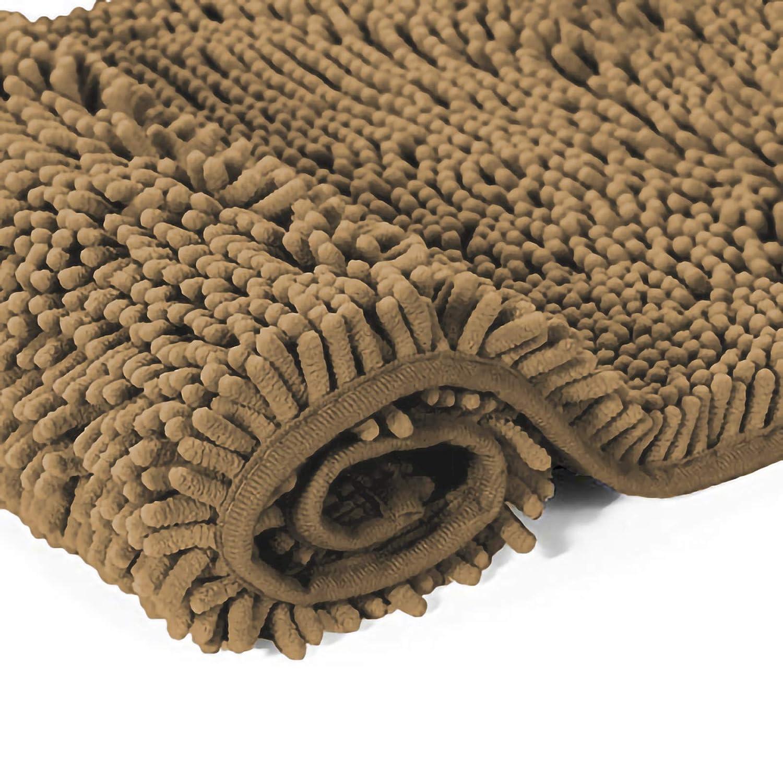 Beige PETTI Artigiani Italiani Tappeto Bagno Tappetino Antiscivolo 50 x 80 cm Tessuto