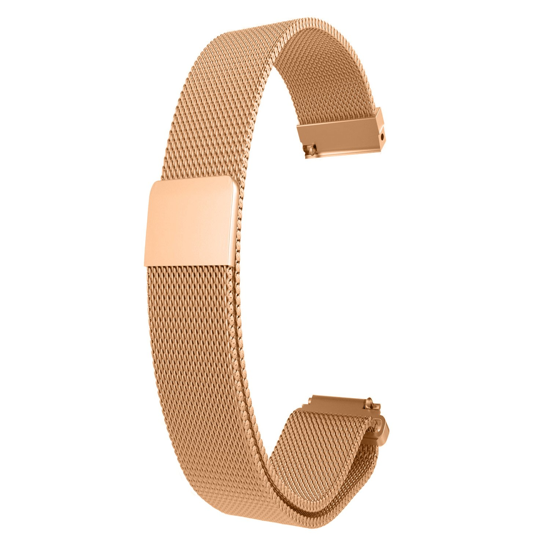 RuenTech for Fossil Q Venture Bands Replacement Metal Milanese Loop Strap for Fossil Gen 4 Venture HR/Fossil Gen 3 Smartwatch