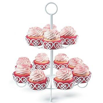 Melidoo 12er Cupcake Muffin Dessert Stander 2 Stockig Metall