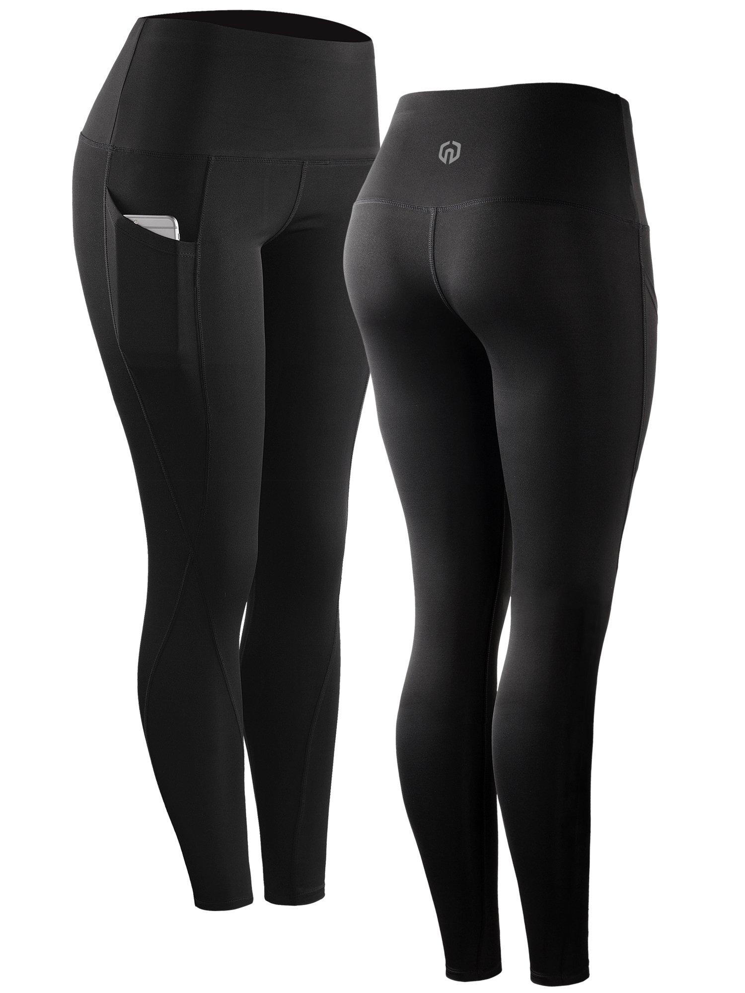 Neleus Tummy Control High Waist Running Workout Leggings,9017,One Piece,Black,S,EU M by Neleus (Image #4)