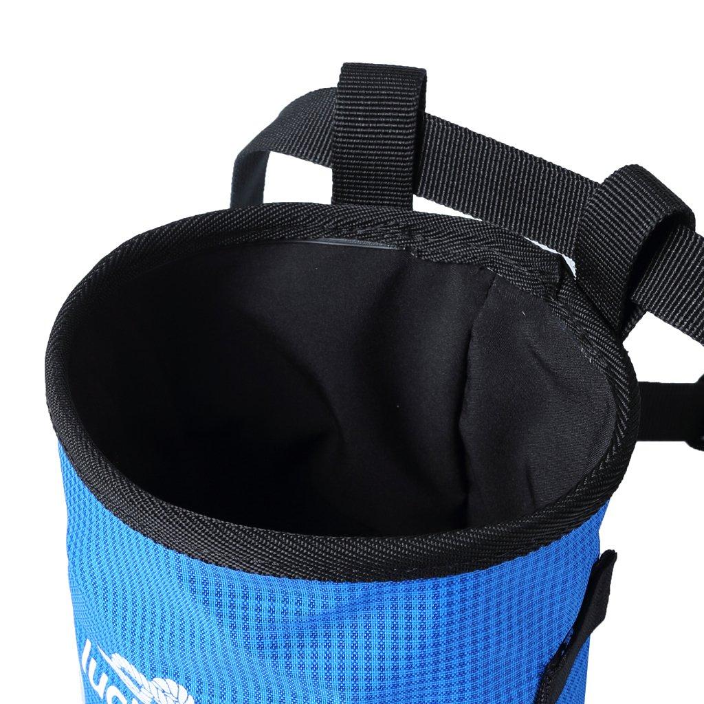 Rock Climbing Chalk Bag For Bouldering Gymnastics With Adjustable Waist Belt