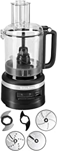 KitchenAid Refurbished 9-Cup Food Processor Plus | Black Matte