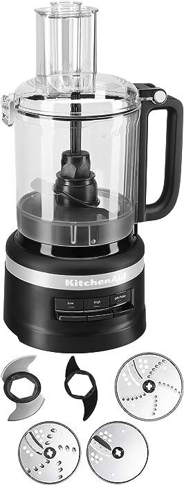 KitchenAid Refurbished 9-Cup Food Processor Plus | Black Matte