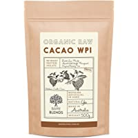 Natural Whey Protein Isolate & Organic Raw Cacao   WPI   Chocolate Whey Protein Powder   Gluten Free   non-GMO   500g