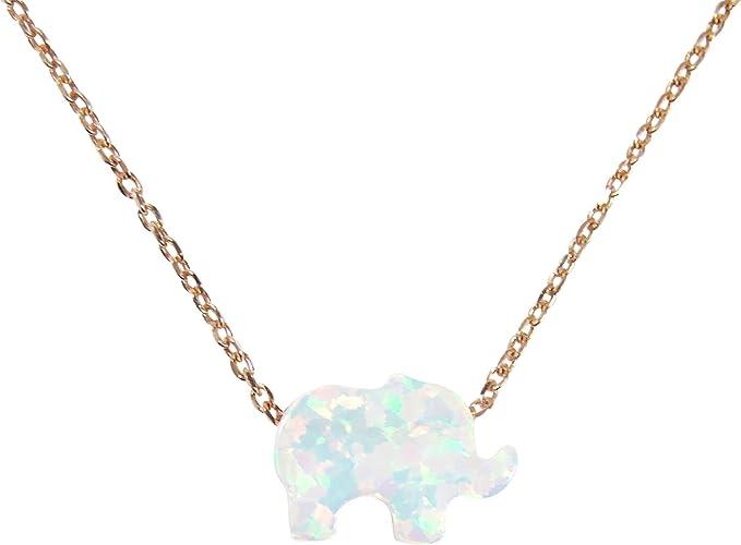 Origami Elephant Pendant Necklace in White Gold \u2022 White Gold Elephant Pendant \u2022 Elephant Pendant Necklace \u2022 Origami White Gold Pendant