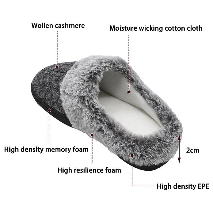 Accogliente Invernale Memory Donna jiajiale Cachemire di Pantofole qHZawTP