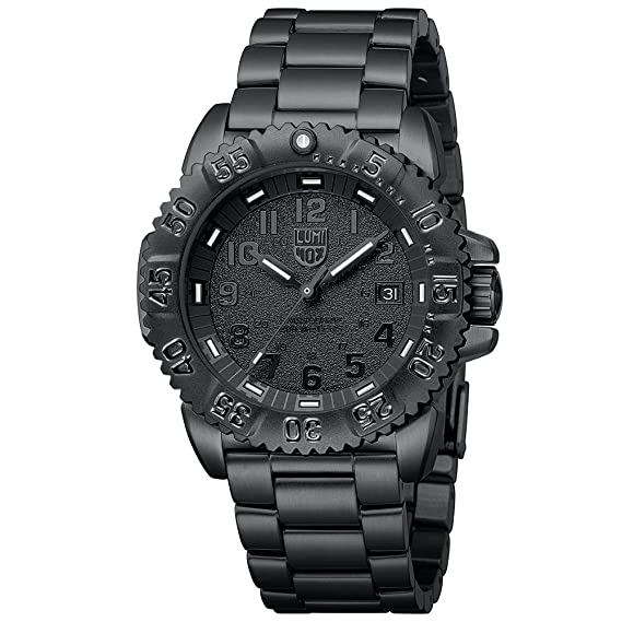 a63ff9158969e Amazon.com  Luminox Sea Navy Seal Steel Colormark 3150 Men s Black PVD Watch  A.3152.BO  Luminox  Watches