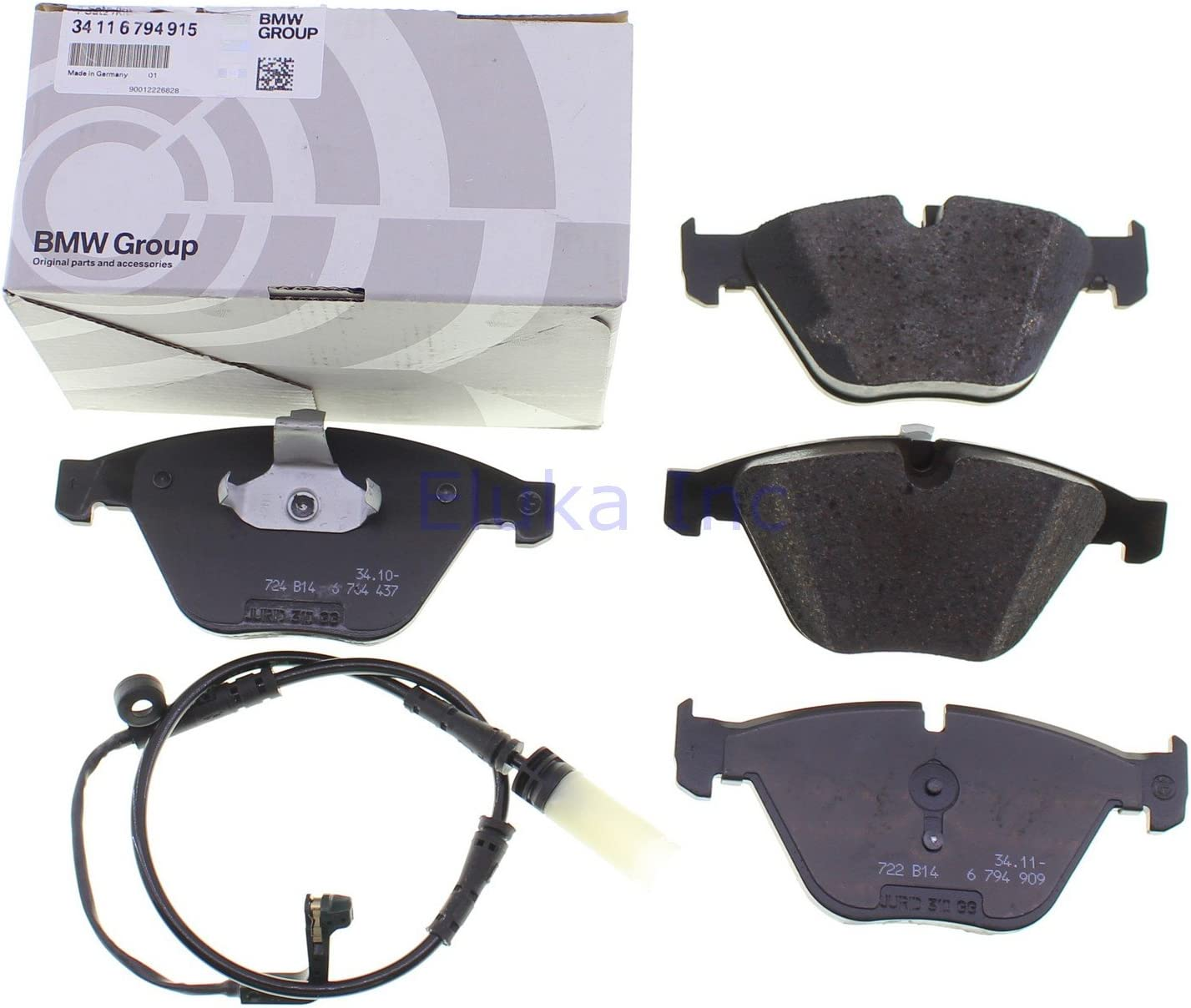 BMW Genuine Set Of Brake Pads With Wear Sensors