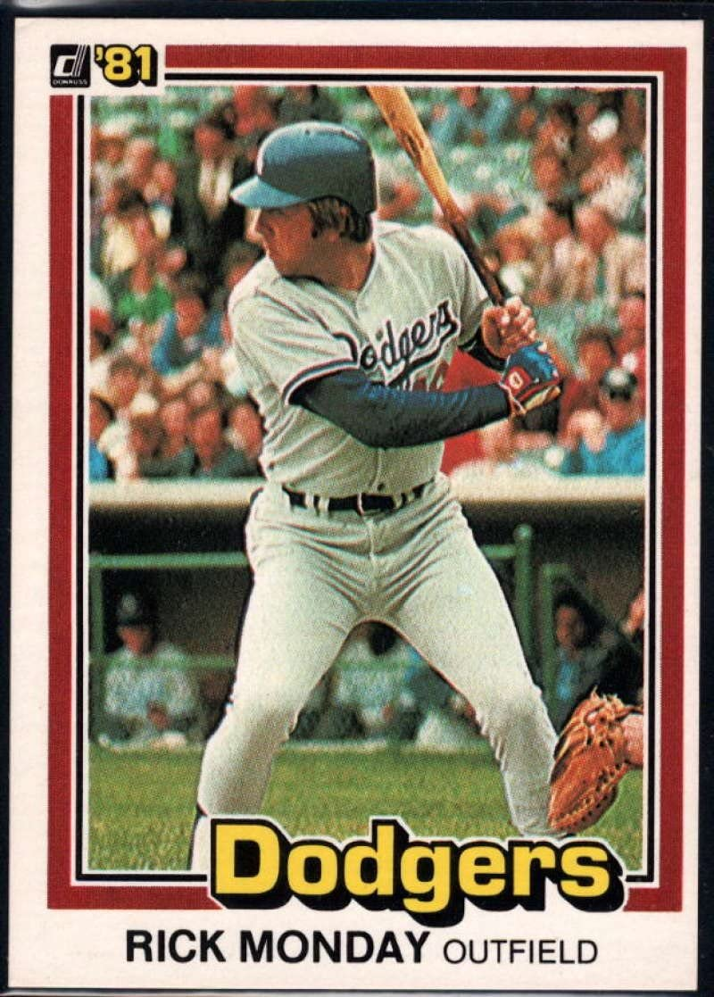 1981 Donruss Baseball #60 Rick Monday Los Angeles Dodgers Official MLB Trading Card From The Donruss Company in RAW (EX-MT or Better) Condition