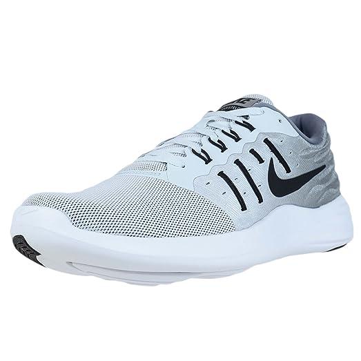 Nike Men's LunarStelos Pure Platinum/Cool Grey/White/Black Nylon Running  Shoes 7.5