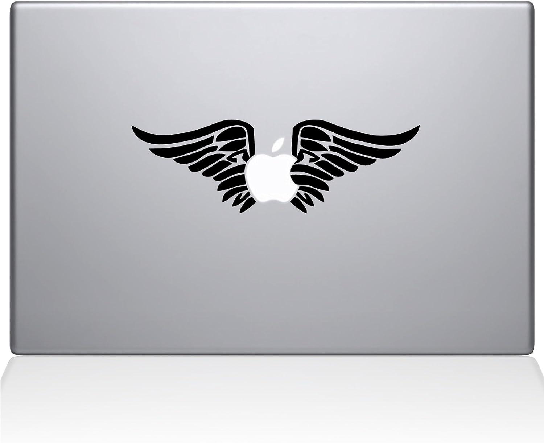 "The Decal Guru 0155-MAC-13X-W Cherub Angel Wings Vinyl Sticker, 13"" Macbook Pro (2016 & newer), White"