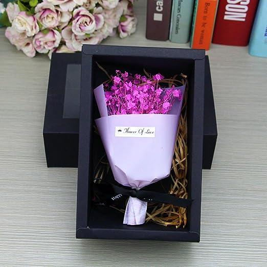 povKeever Caja de Regalo Gypsophila Hermosa Caja de Regalo ...