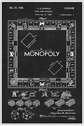 Amazon monopoly board games and toys blueprint patent patent monopoly board games and toys blueprint patent patent poster blueprint poster malvernweather Image collections