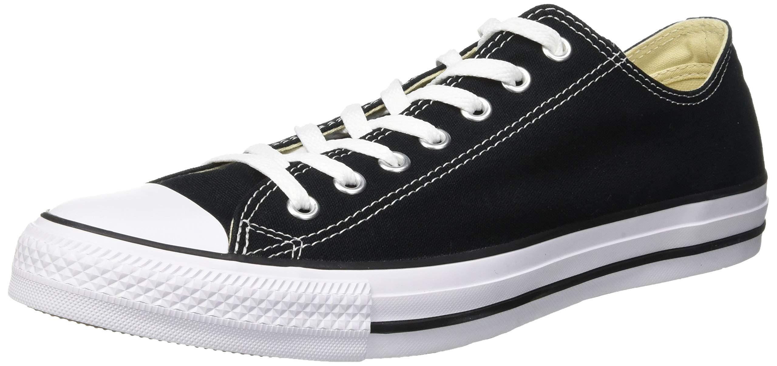 5c8770833d97 Converse Unisex Chuck Taylor All Star Ox Low Top Black Sneakers - 8 B(M) US  Women   6 D(M) US Men