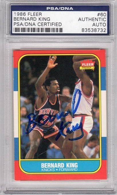 31783a653 Bernard King New York Knick 1986 Fleer  60 Signed AUTOGRAPH STEINER -  PSA DNA