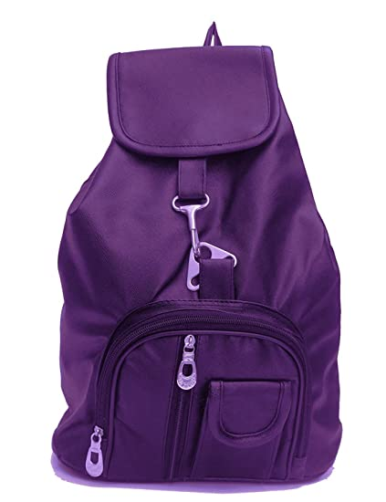 a1a68fb477fa TrendyAge Leather and ABS Purple Backpack for Women (Medium)  Amazon.in   Bags