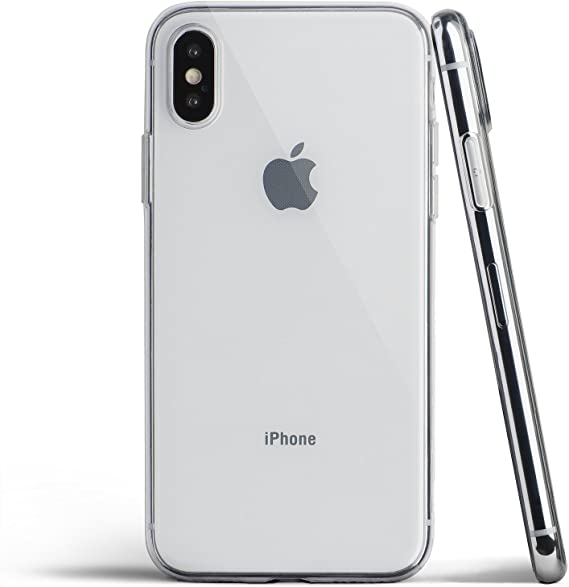 Amazon Com Totallee Clear Thin Iphone X Case Thinnest Soft Cover