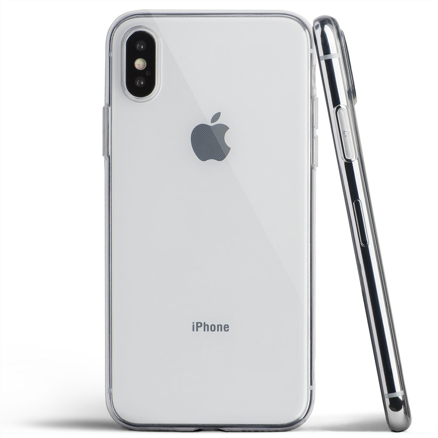 8e5a1b95ad60 totallee Clear Thin iPhone X Case, Thinnest Soft Cover Slim Flexible TPU -  for Apple iPhone X (2017) (Transparent)