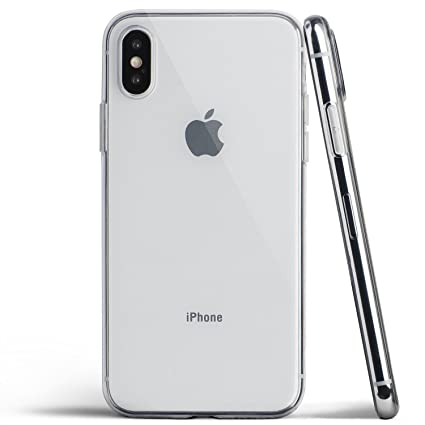 official photos 5565a 3ff96 totallee Clear Thin iPhone X Case, Thinnest Soft Cover Slim Flexible TPU -  for Apple iPhone X (2017) (Transparent)