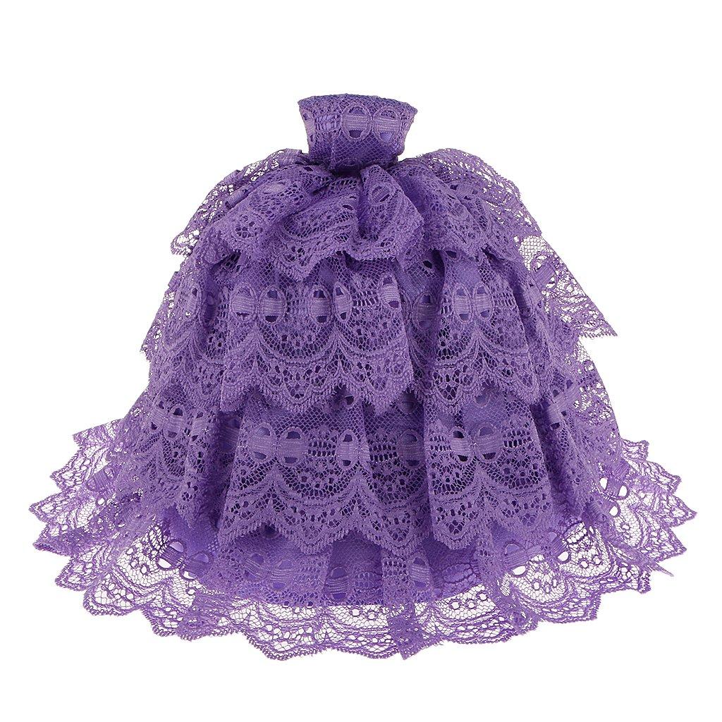 cheap Vestido de Boda Torta Cordón Morado Muñeca Barbie ...
