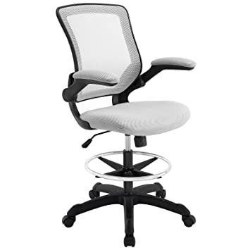 Attractive Modway Veer Drafting Stool Chair (26L X 26W X 49.5H), Gray